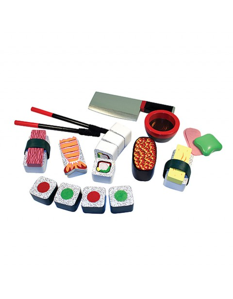 Melissa & Doug Sushi Slicing Wooden Play Food Set