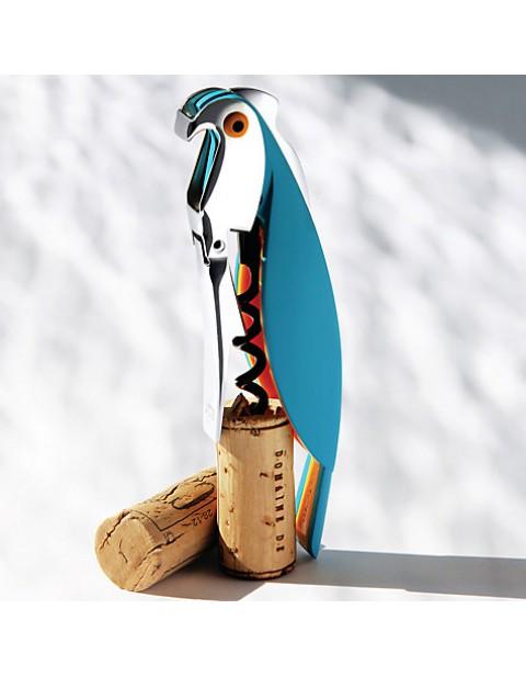 Alessi Parrot Sommelier Corkscrew, Blue