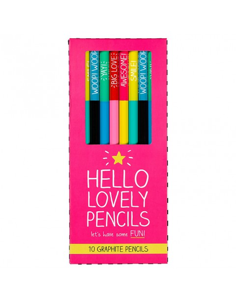 Happy Jackson 'Hello Lovely Pencils', Set of 10