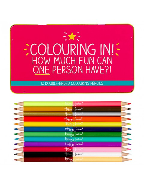 Happy Jackson 'Colouring In!' Coloured Pencils, Set of 12