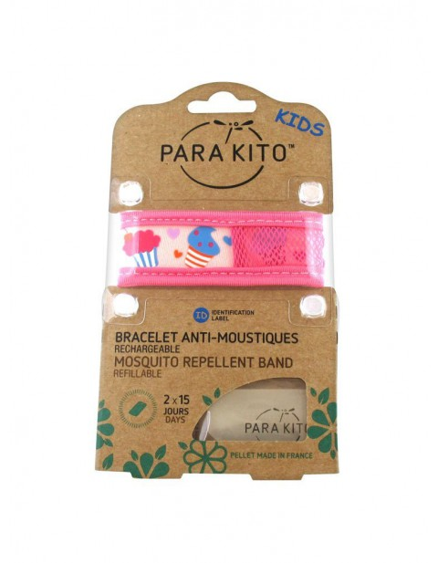 Para'Kito Anti-Mosquito Wristband Kids Cupcakes Refillable