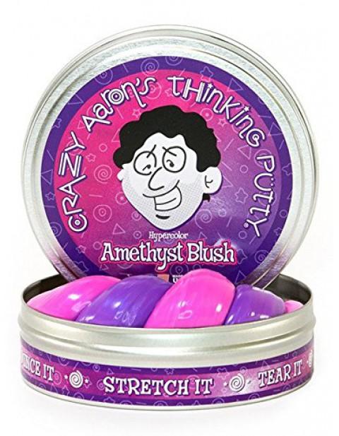 Crazy Aaron's Large Thinking Putty - Heat Sensitive Amethyst Blush
