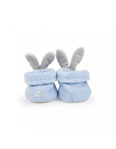 Kaloo Plume Booties (Rabbit Blue)